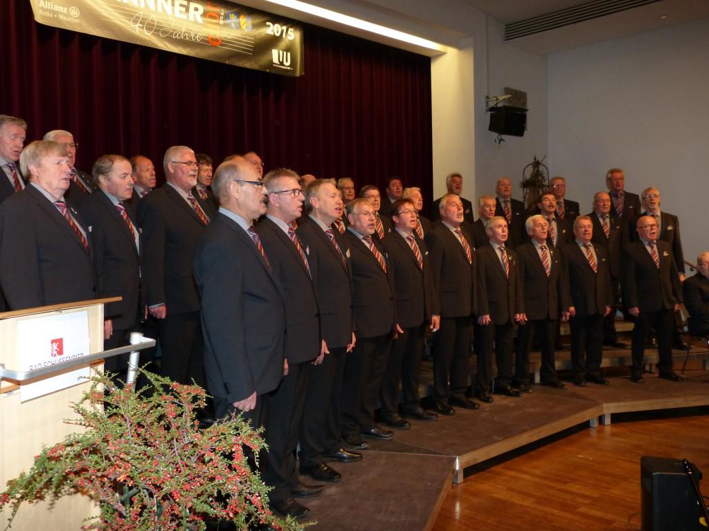 Der MGV bei seinem Jubiläumskonzert